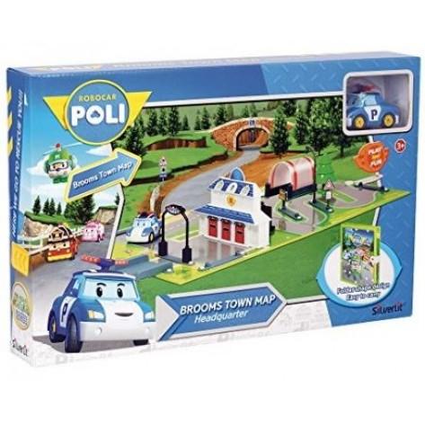 POLI ROBOCAR BROOMS TOWN MAP