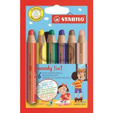 STABILO WOODY 3 IN 1 6 MATITE