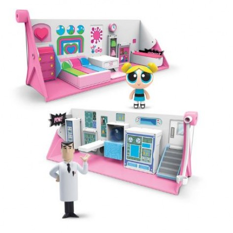 POWERPUFF GIRLS PLAYSET FLIPACTION