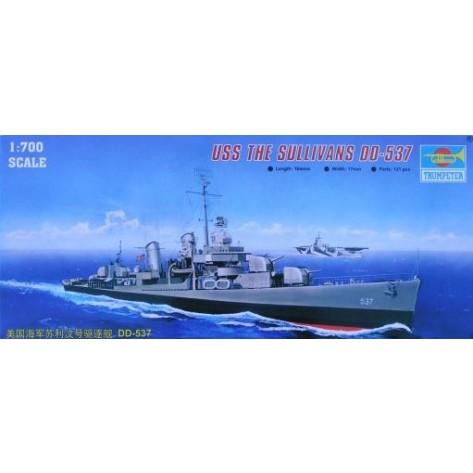 NAVE USS SALLIVANS DD-537 KIT 1/700