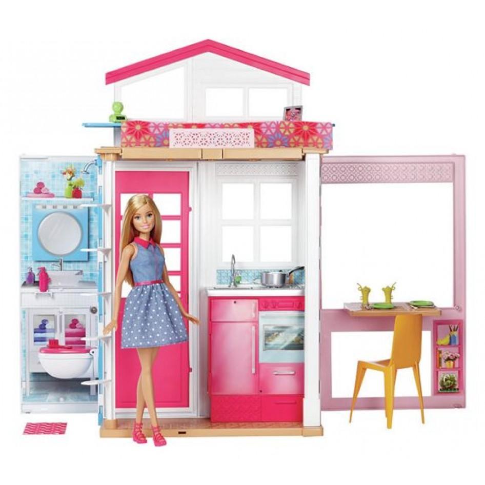 Barbie Casa A 2 Piani E Bambola