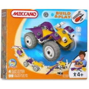 MECCANO BUILD&PLAY 4 MODEL SET