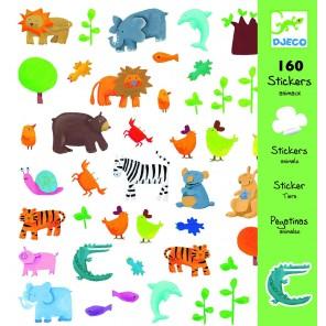 160 STICKERS ANIMALI