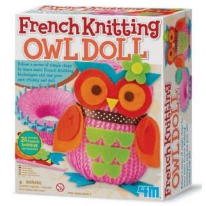 FRENCH KNITTING OWL DOLL