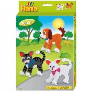 HAMA BEADS 2000 PZ CANI E GATTI