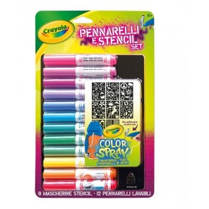 RICARICA COLOR SPRAY & STENCILS SET GIRL