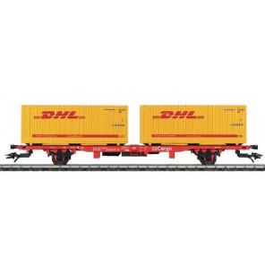 CARRO PIANALE + CONTAINER DHL H0