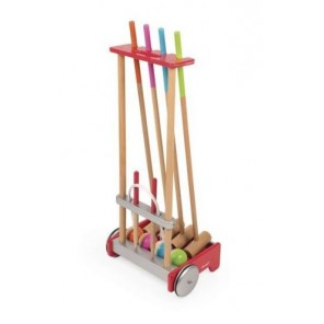 CROQUET GIOCO CON TROLLEY