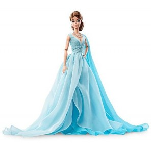 BARBIE FASHION MODEL BLUE CHIFFON