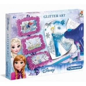 FROZEN SNOW GLITTER ART