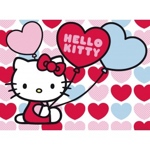 60 PZ HELLO KITTY MONDO A CUORI
