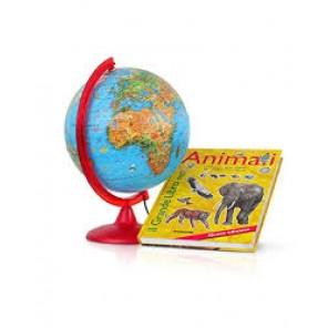MAPPAMONDO ZOO 25CM+ LIBRO ANIMALI