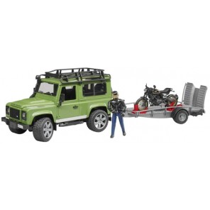 LAND ROVER DEFENDER + RIMORCHIO MOTO