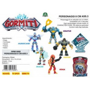 GORMITI PERSONAGGI 8CM ASSORTITI