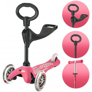 MONOPATTINO MINI MICRO 3IN1 DELUXE ROSA