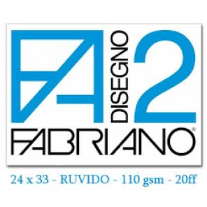 ALBUM DISEGNO FABRIANO F2 RUVIDO 24X33