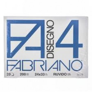 ALBUM DISEGNO FABRIANO F4 RUVIDO 24X33