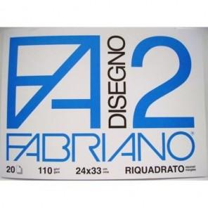 ALBUM DISEGNO FABRIANO F4 RIQUADRATO 24X