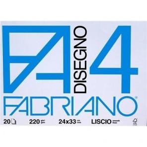 ALBUM DISEGNO FABRIANO F4 LISCIO 24X33