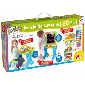 CAROTINA BANCHETTO-LAVAGNA LED 3 IN 1