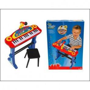 PIANOLA CON MICROFONO E SGABELLO