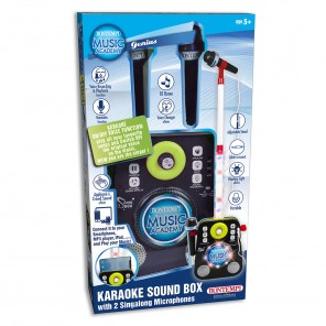 KARAOKE SOUND BOX CON 2 MICROFONI